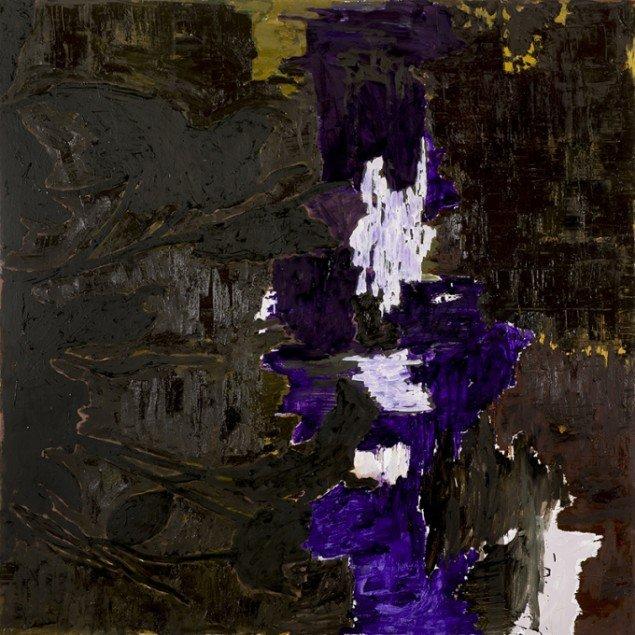 Kehnet Nielsen: The Darkland Sketches X, 2014. Olie på lærred, 200 x 200 cm. På The Darkland Sketches, Galleri Susanne Ottesen. Foto: Hans Ole Madsen