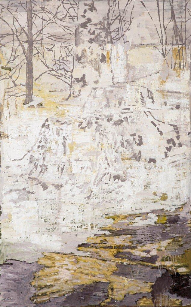 Kehnet Nielsen: The Darkland Sketches XI, 2014. Olie på lærred, 200 x 125 cm. På The Darkland Sketches, Galleri Susanne Ottesen. Foto: Hans Ole Madsen