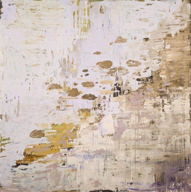 Kehnet Nielsen: The Darkland Sketches XIV, 2014. Olie på lærred, 200 x 200 cm. På The Darkland Sketches, Galleri Susanne Ottesen. Foto: Hans Ole Madsen
