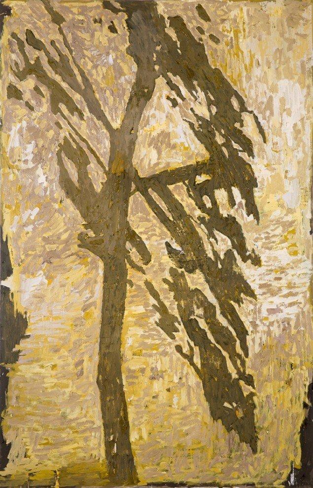 Kehnet Nielsen: The Darkland Sketches XVI, 2014. Olie på lærred, 200 x 125 cm. På The Darkland Sketches, Galleri Susanne Ottesen. Foto: Hans Ole Madsen