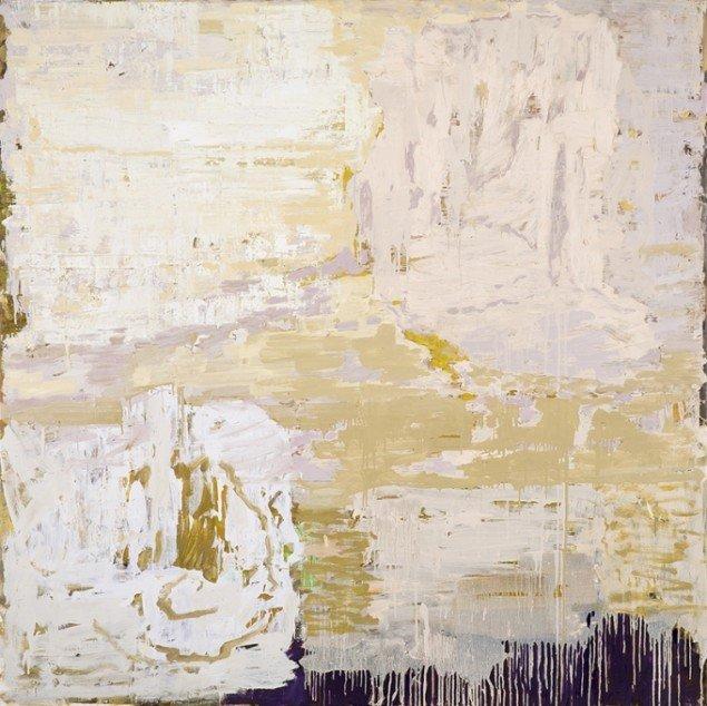 Kehnet Nielsen: The Darkland Sketches XVIII, 2014. Olie på lærred, 200 x 200 cm. På The Darkland Sketches, Galleri Susanne Ottesen. Foto: Hans Ole Madsen