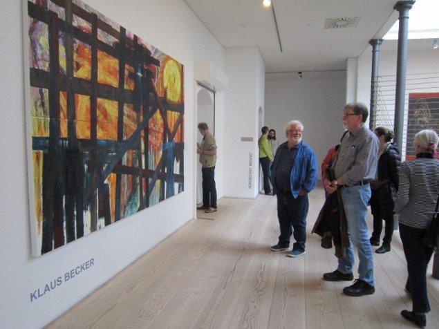 Klaus Becker: Berlin von Gestern, 2014. Olie på lærred, 2 x 3 m. På Jorn Lab, KunstCentret Silkeborg Bad. Foto: Johanne Daugaard Løkke