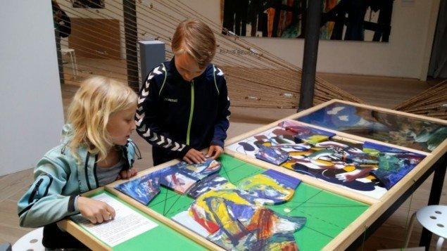 Bodil Brems: PROCES. Et tilbud om billedskaben - en modifikation, 2014. Installation. På Jorn Lab, KunstCentret Silkeborg Bad. Foto: Johanne Daugaard Løkke