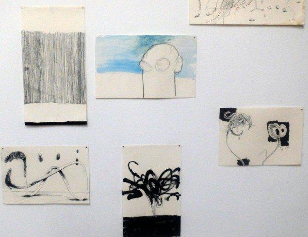 Thorsten Dennerline: 34 tegninger, 2011. På Jorn Lab, KunstCentret Silkeborg Bad. Foto: Lars Svanholm