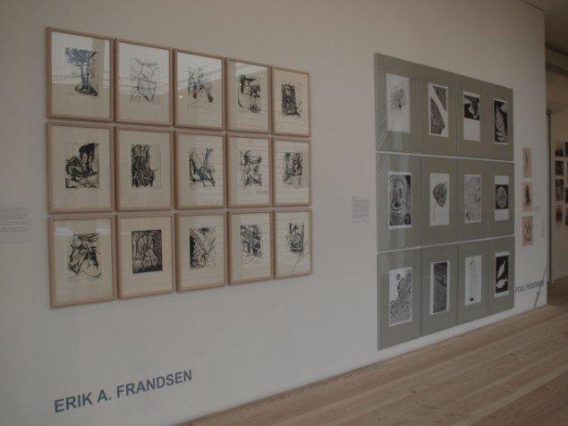 Erik A. Frandsen: 15 raderinger, 1985-86. Tilhører KunstCentret Silkeborg Bad. På Jorn Lab, KunstCentret Silkeborg Bad. Foto: Laura Emilie Schatz-Jakobsen