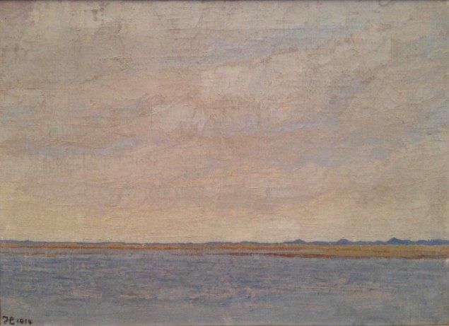 Johannes Larsen: Fiil sø med Henne klitter. 1914. Olie på lærred. 44 x 60 cm. Foto: Johannes Larsen Museet