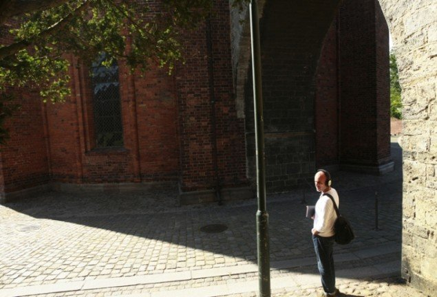 Mette Kit Jensen: Flâneuse de l'Europe, audiowalk. Museet for Samtidskunst, Roskilde 2014. Foto Pernille Koldbech Fich.