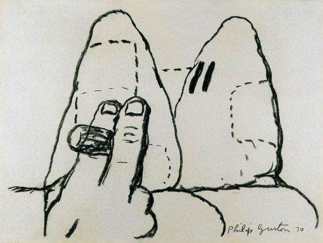 Philip Guston, Uden titel, 1970, © The Estate of Philip Guston