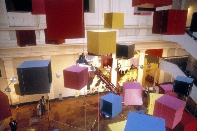 Eric Andersen: Opus 90: SMK, 1990. Derefter indgået i den permanente samling med digital styret udstillingsplan, stole og Det Skjulte Maleri. Foto: Dorte Krogh