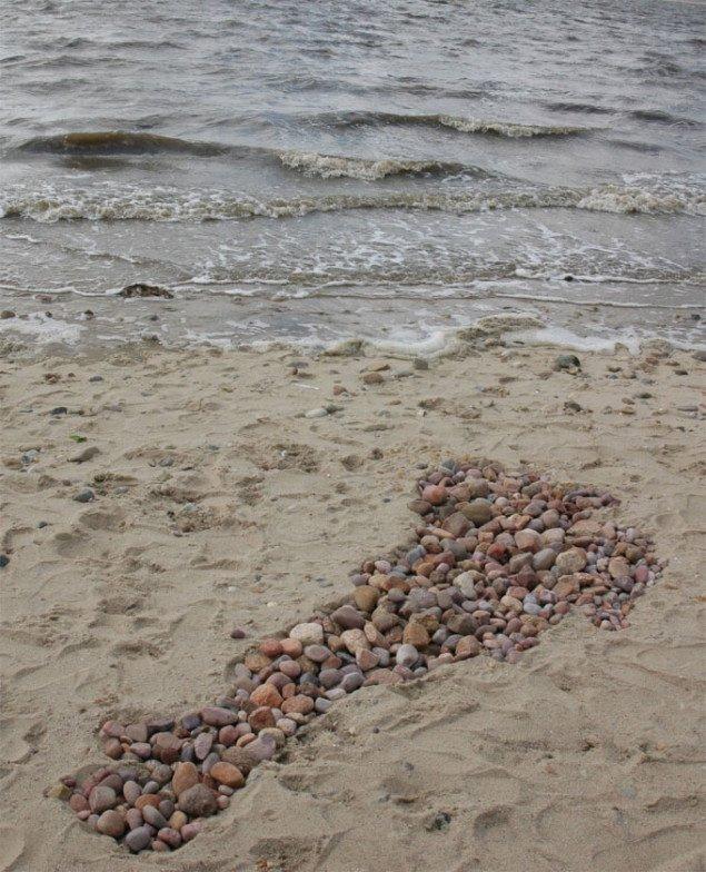 Tapati Chowdhury skabte en skygge af Steen (Rasmussen) i sten. Foto: Steen Rasmussen.