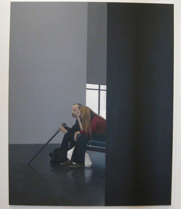 To mennesker uden kontakt. Tim Eitel, Paar, 2005.  Courtesy Galerie EIGEN + ART Leipzig/Berlin and PaceWildenstein. Foto: Kasper Lie.