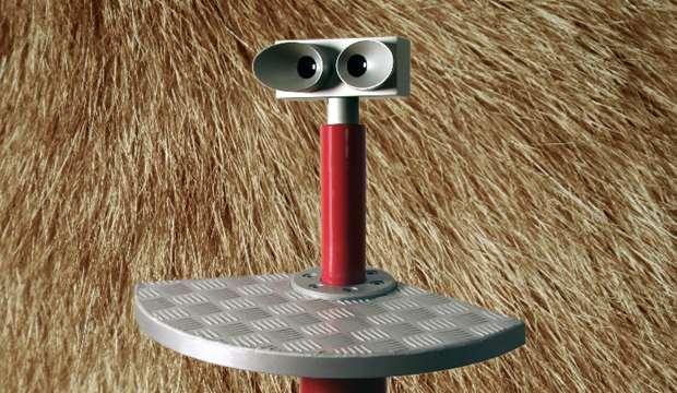 Fem stereoskoper bliver placeret i parken med forskellige 3D billeder. Foto: Daniel Zimmermann