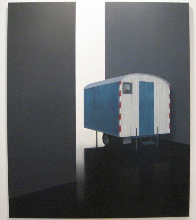 Skurvognen søger også mod lyset fra den anden side. Tim Eitel, Wagen, 2005.  Courtesy Galerie EIGEN + ART Leipzig/Berlin and PaceWildenstein. Foto: Kasper Lie.