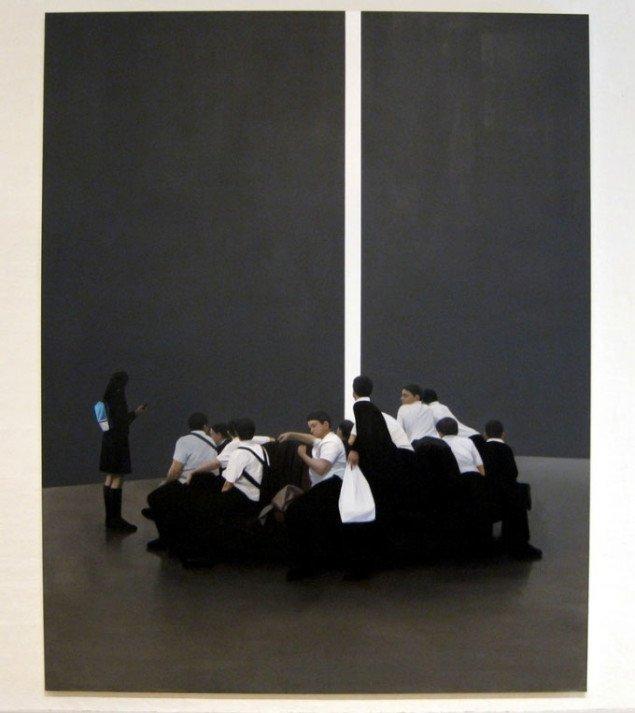 Den abstrakte murflade åbner op til noget bagved. Tim Eitel, Öffnung, 2006.  Foto: Kasper Lie.