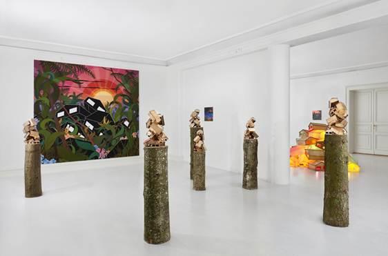 Eske Kath: Der var huse overalt, Udstillingsview Galerie Michael Andersen, 2011. Foto: Anders Sune Berg