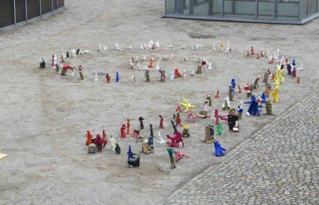 Mangfoldighedens karneval. Fællesværk af kunstnere fra Prokk. Foto: Jacob Juhl