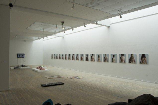 Kroppen som slagmark. Fællesværk af kunstnere fra Prokk. Foto: Jacob Juhl