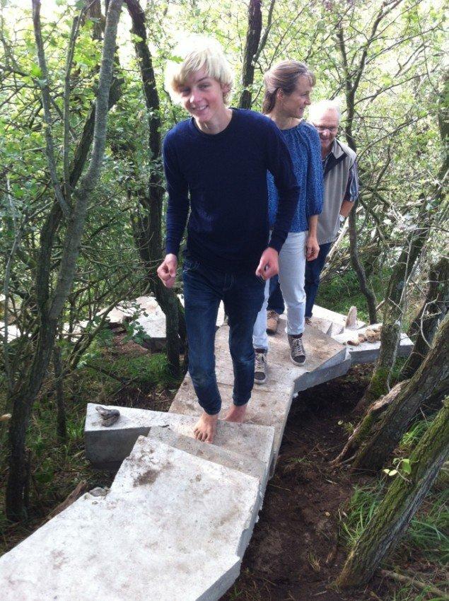 Sophus Ejler Jepsens trappe i anvendelse. Foto: Vejen Kunstmuseum