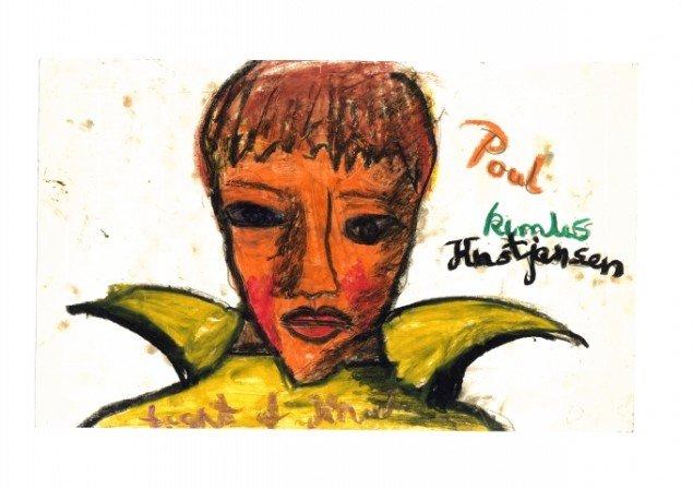 Faster Grete i Hjørring opmuntrede Knud Odde til at tegne, når han var på ferier hos hende. Her drengeportræt fra ca. 1965-67 (10-12 år). Foto: Trapholt