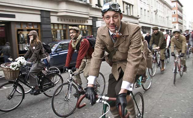 Tweed Ride i London. Pressefoto.