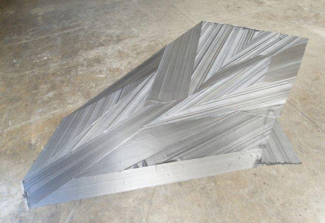 Ruth Campau: Rubber Soul, 2014, akryl på silikone, 4,00 x 3,70 m. Foto: Ruth Campau