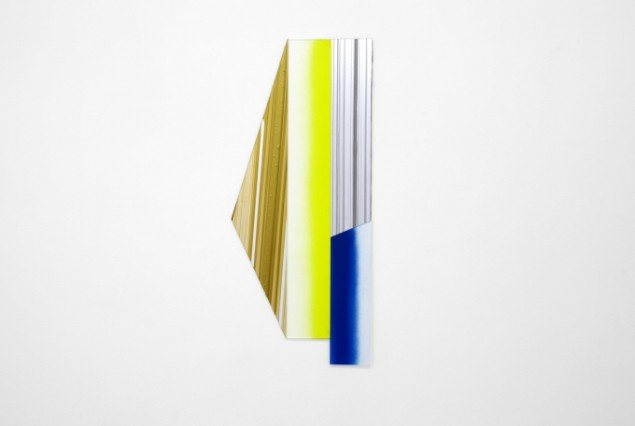 Ruth Campau: Diamond (long yello, bronze and blue), 2011, 72 x 34 cm, Foto: Thomas Ibsen