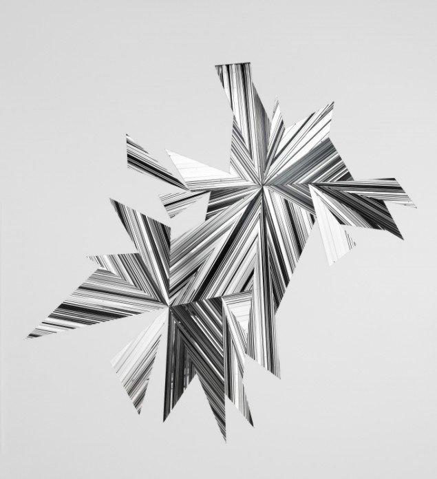 Ruth Campau: Midnight Mirror, 2009, Akryl på spejlakrylplade, 2.70 m x 2.80 m. Foto: Anders Sune Berg