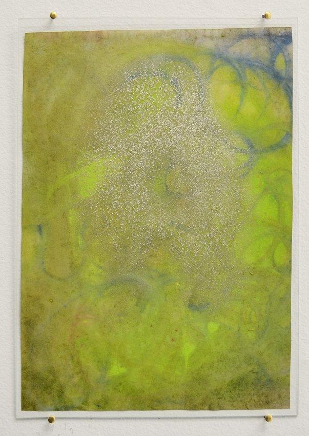 Johanne Skovbo Lasgaard: Orthoclase, 2014. Gouache og pigment på papir, 30 x 21 cm. På The Order of Things, Marie Kirkegaard Gallery. Foto: Marie Kirkegaard Gallery