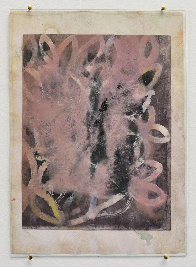 Johanne Skovbo Lasgaard: Celestite, 2014. Vandfarve og gouache på papir, 30 x 21 cm. På The Order of Things, Marie Kirkegaard Gallery. Foto: Marie Kirkegaard Gallery
