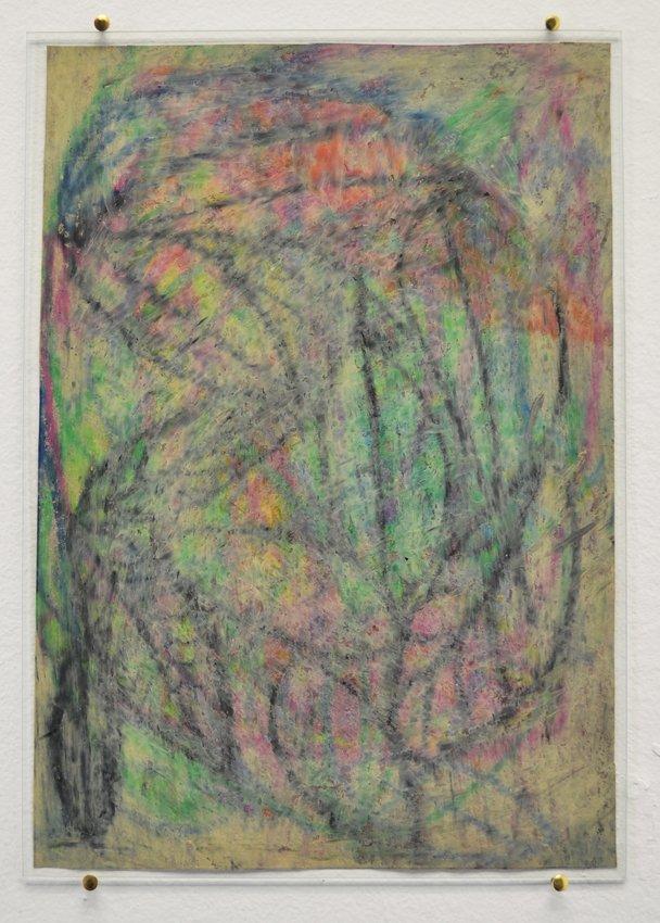Johanne Skovbo Lasgaard: Galena, 2014. Oliekridt på papir, 30 x 21 cm. På The Order of Things, Marie Kirkegaard Gallery. Foto: Marie Kirkegaard Gallery