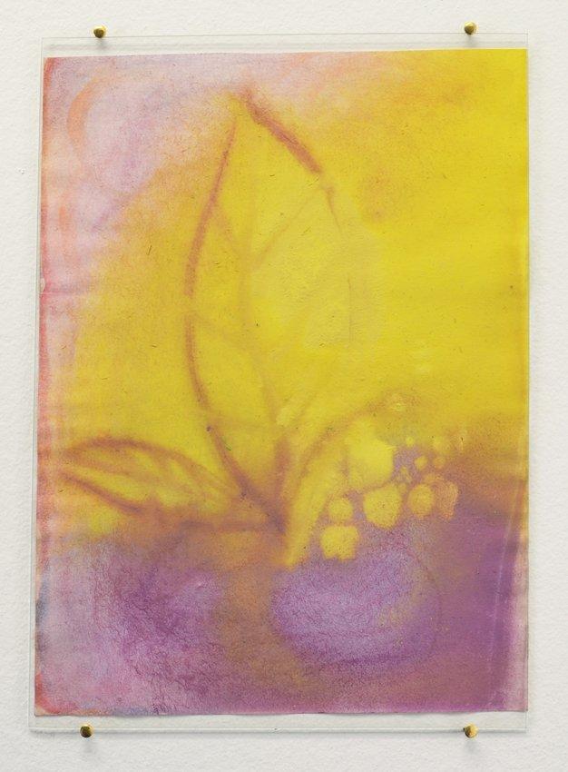 Johanne Skovbo Lasgaard: Spodumene, 2014. Gouache på papir, 30 x 21 cm. På The Order of Things, Marie Kirkegaard Gallery. Foto: Marie Kirkegaard Gallery