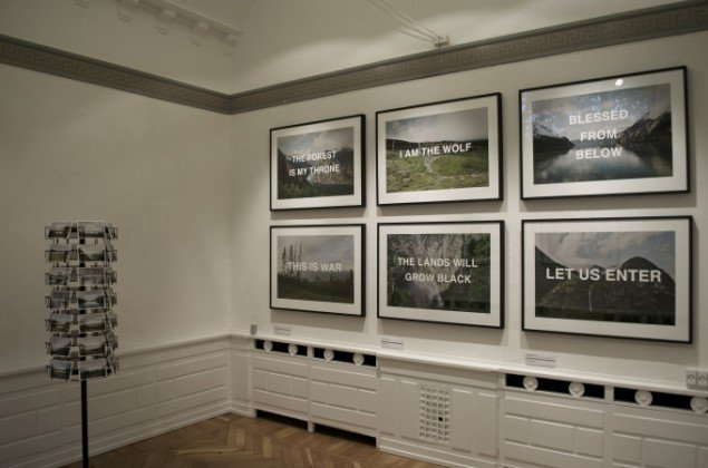 Udstillingsview af værker af Johan Bergström. På Indre og ydre landskaber, Fotografisk Center i Museumbygningen. Foto: Kirstine Schiess Højmose