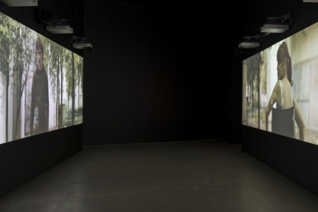 Installationsbillede, This Nameless Spectacle, 2011, ARoS (2014). Foto: Ole Hein Pedersen
