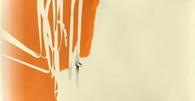 Lisbeth Eugenie Christensen: Emphasis II, 2014. Akryl og blyant på papir, 41,5 x 80,5 cm. På Crystalline, Galleri DGV. Foto: Per Ahlmann