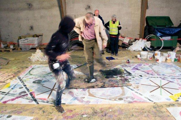 Action Painting i Langhøjområdet. Foto: Kristine Hymøller