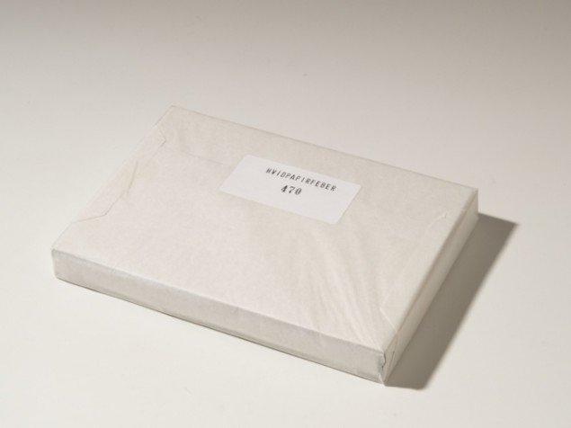 Christian Vind: Hvidpapirfeber, 2004. 500 nummererede eksemplarer. Foto: Lars Bay.