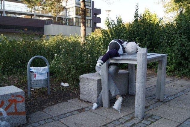 Dorthe Buchwald: Sovende Punker. Foto: Tess Tonsgaard Heidemann.