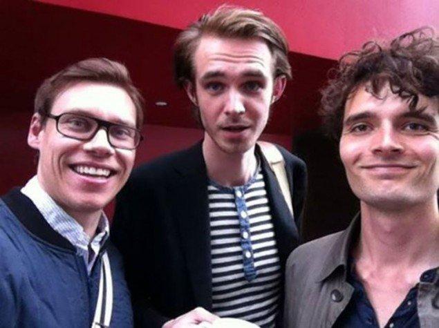 Det nye kulturmagasin DOXAs redaktion: Lasse Marker (tv), Mads Aagaard Danielsen (i midten) og Villads Andersen (th). Foto: DOXA.