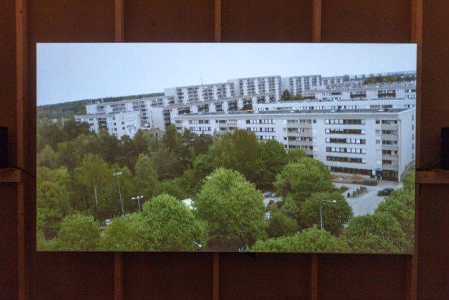 Hallonberget. Still fra video optaget fra drone. Fra Kerstin Bergendal: PARK LEK PARLAMENT