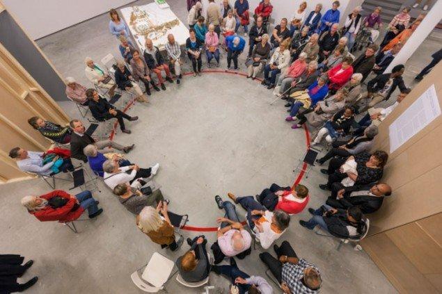 Offentligt møde under PARK LEK-projektet. Foto: PARK LEK.
