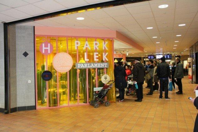 PARK LEKs lokale i områdets indkøbscenter. Foto: PARK LEK.