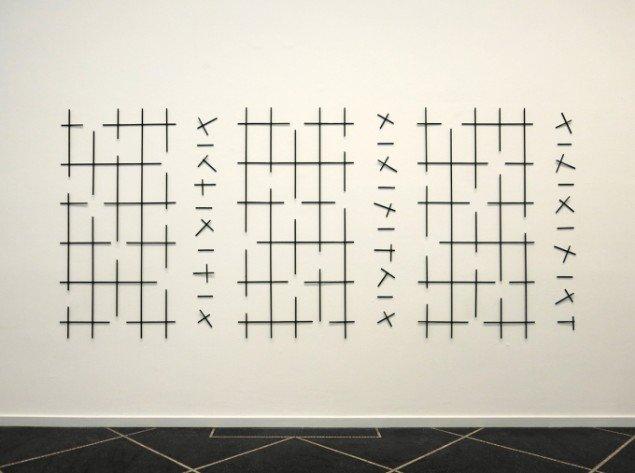 Sakir Gökcebag: Think Tank, 2014. Haveespalier, 150 x 326 cm. På TREUDDK, Galleri Susanne Ottesen. Foto: Galleri Susanne Ottesen