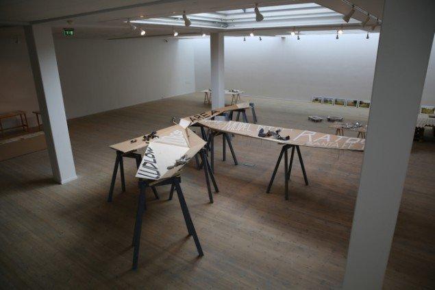 Dave Hullfish Bailey: Del af installationen Work Model.. Foto: Jens Møller