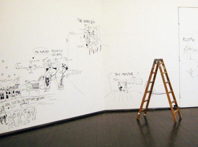 Tegninger af det perfekte kunstnerliv. Mie Hørlyck Mogensen: 'Sådan mo det hænge sammen. Foto: Kristian Handberg.
