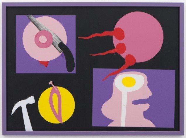 Zven Balslev: La Femme, 2013. Papirklip, 48 x 66 cm. Foto: Christoffer Munch