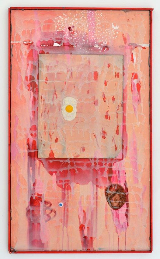 Zven Balslev: New Formalism, 2014. Akryl og lim på lærred, 100 x 80 cm. Foto: Marie Kirkegaard Gallery