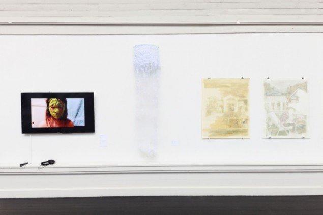 Værker fra Kunstnernes Efterårsudstilling 2014. Foto: Stamers Kontor.