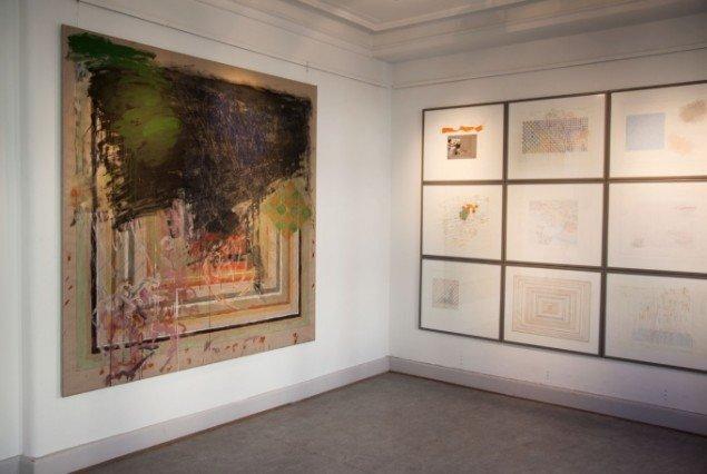 Max Parylewich: Maleri og GRIDSTUDIE. Foto: Else Ploug Isaksen