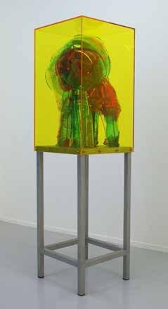 Bjørn Poulsen: Ghost #114, 2014. Plexiglas, acrylic og stainless steel, 160x50x50 cm. På Nærværk - Kunst er at skabe nyt nærvær, Pop-up Contemporary #6 til d. 26/10. Foto: Anders Sune Berg.