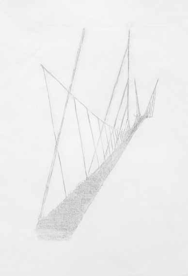 Peter Callesen: Bridge 1-6, 2014. Monoprints, klip, collage og tegning. Indrammet 62x48x4 cm. På Nærværk - Kunst er at skabe nyt nærvær, Pop-up Contemporary #6 til d. 26/10. Foto: Anders Sune Berg.